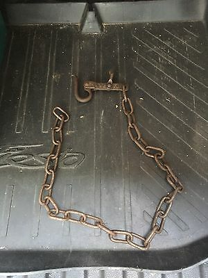 vintage Engine Lifting Chain we think but maybe a fence strainer!