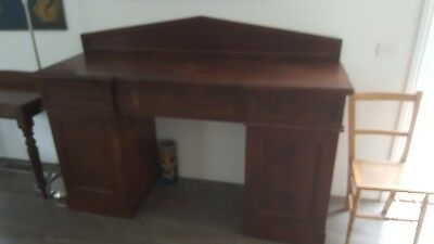 Antique Flame Mahogany Twin Pedestal Sideboard C.1850