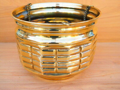 Vintage Old Large Size Brass Planter Pot, Brass Pot (H563)