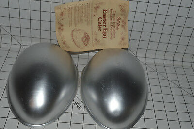 VINTAGE WILTON Cake Pan 3D Easter Egg Football 1971 5022121 with