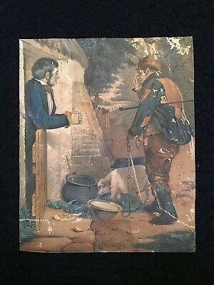 Antique Lithograph Picture 29 Cm X 24 Cm