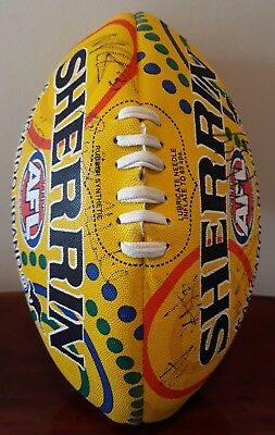 Sherrin AFL Indigenous Football Signed by 23 Richmond Tigers Incl Dustin Martin