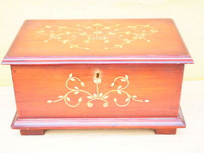 Vintage Old Large Size Inlaid Jewellery Box, Case (H424)