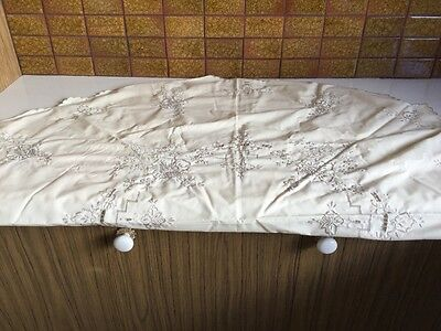Italian embroidered linen tablecloth