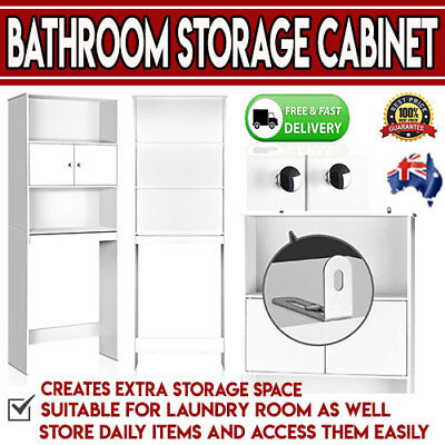 Bathroom Storage Cabinet White Over Toilet Space Saver