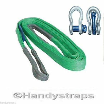 Recovery Towing Sling 3 meter x 14,000kg SIMPLEX 2 x 4.75 Shackle - Offroad