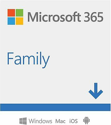 MS Office 365 Home Premium 6 PC - 6 MAC - 1 Year Subscription Office 2019 IE EU