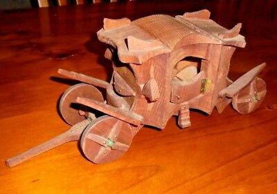 Wooden Horse Carriage toy ~ Handmade with opening doors & more... 29cm long!