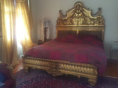 Antique Italian Gold Bed great detail wonderfully aged