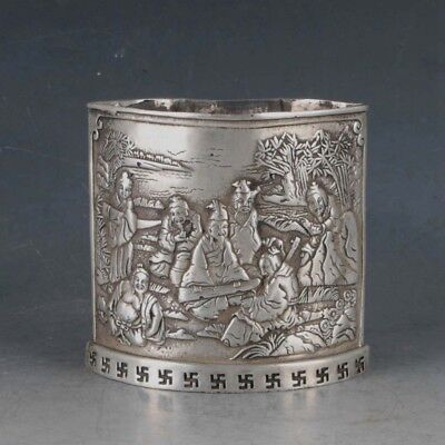 Chinese Rare Silvering Copper Penhoider Made By The Royal Kangxi