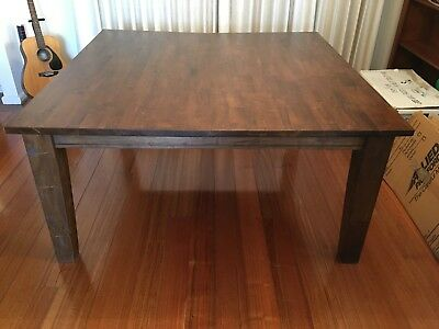 Solid Timber Dining Table - Sanded, Stained and Finished