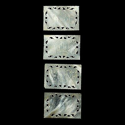 (2030) Antique mother of pearl gaming counters China.