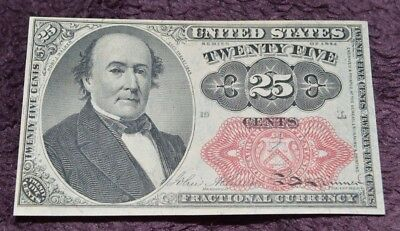 US 25c Fractional Currency FR1309 CU CRISP, UNCIRCULATED NOTE ~ VERY RARE