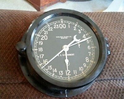 Chelsea 12E-1968 Military Maritime US Government Ship Clock Works Free Shipping!