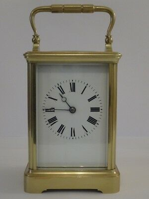 Beautiful antique Margaine striking carriage clock - c. 1895 - fully overhauled