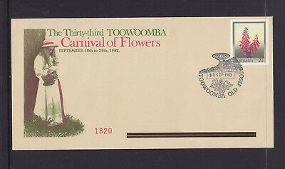 SOUVENIR COVER: 1982 THE 33rd TOOWOOMBA CARNIVAL OF FLOWERS LIM/ED #1820