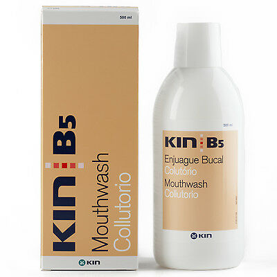 Kin B5 Mouthwash ~ Alcohol-Free Xylitol CPC ~ Daily Use for Bad Breath Implants