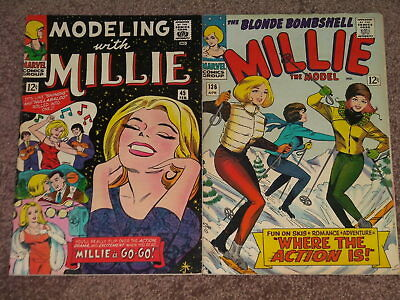 Modeling With Millie the Model 136 45 Marvel Complete 1965 1966