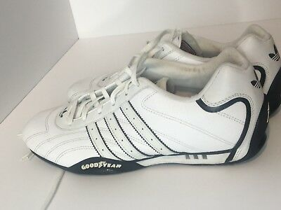 VTG 2006 TEAM ADIDAS Goodyear sneakers Racing Shoes White Sz