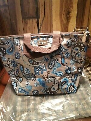 31 Thirty-one Blue Peacock Blue Paisley Insulated Thermal Lunch Tote NEW