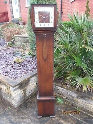 Art Deco Westminster chime Grand Daughter Clock 1930s.