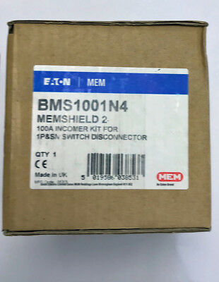 Eaton BMS1001N4 Type B 100A Incomer Kit For 1P&SN Switch Disconnector