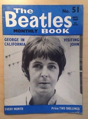 THE BEATLES ORIGINAL MONTHLY MAGAZINE OCTOBER 1967 No51 EXCELLENT CONDITION