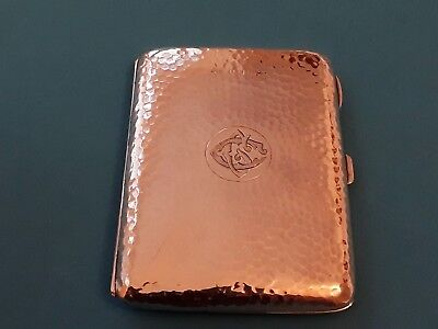 A Beautiful Silver Card Case/aide memoire with leather interior Walker & Hall