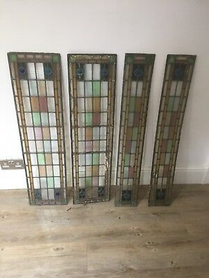 Leaded stained glass door panels