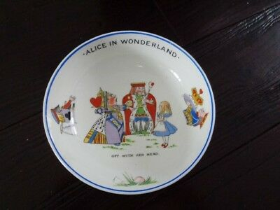 Alice In Wonderland Hammersley Bowl Off With Her Head 5 1/3 Inches