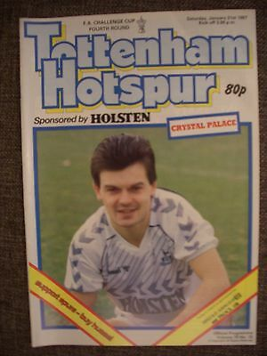 1987....TOTTENHAM HOTSPUR v CRYSTAL PALACE....F.A.Cup 4th rd..Football Programme