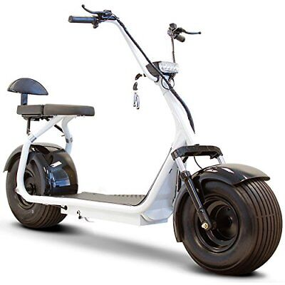 New Ewheels Fat Tire Scooter with Wireless bluetooth speaker - White body