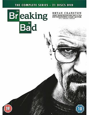 BREAKING BAD The Complete Series Stagioni 1-5 BOX 21 DVD in Inglese Nuovo