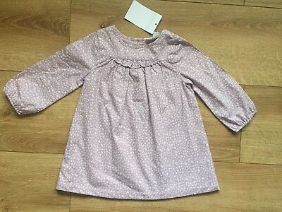 The Little White Company Baby Girls Cotton Tunic Floral Dress 6 9 Months BNWT