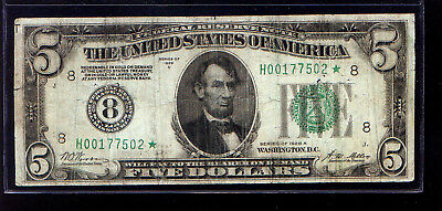 SECOND REPORTED & Rare Fr 1951-H* 1928A ** STAR ** $5 St Louis         1928-A