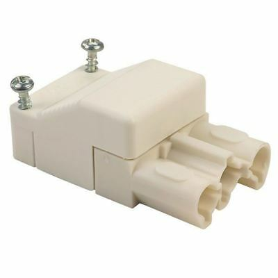 Wieland 93.731.3250.0 3 Pin Female Compact Connector with Strain Relief White