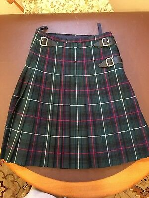 Scottish Mens Handmade Kilt MacKenzie tartan 32 - 34 waist 100% wool