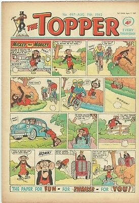 Topper Comic From 1962 Number 497