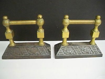 Antique Brass And Cast Iron Pair Of Interesting Unknowns