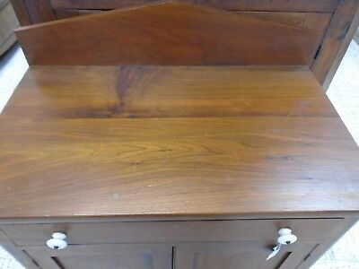 antique walnut1 drawer 2 doors washstand