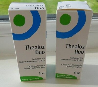 2 Boxes of Thealoz Duo 5ml - BRAND NEW & SEALED
