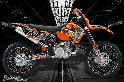 """YAMAHA 1998-2009 YZF250 YZF450 DECAL WRAP /""""LUCKY/"""" GRAPHICS SET FOR OEM PARTS"""