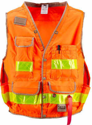 SECO Class 2 Lightweight Safety Utility Vest Large Fluorescent Orange
