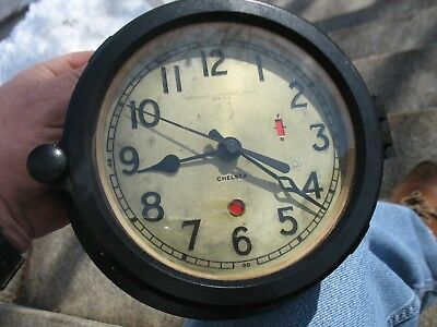 Chelsea Ship Clock Bakelite Northwest Instrument Co Seattle runs