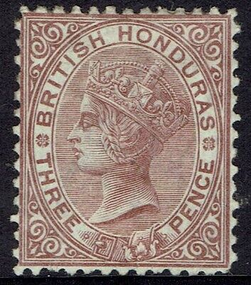 British Honduras 1872 Qv 3D Wmk Crown Cc Perf 12.5