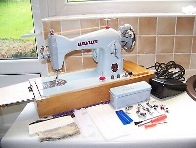 Sought Japan Novum Mark 111 Deluxe Semi Industrial Sewing Machine,case,serviced