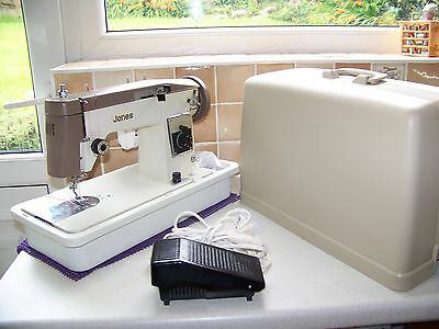 Superb Jones Brother 434 Z/z Semi Industrial Sewing Machine,case,access.serviced