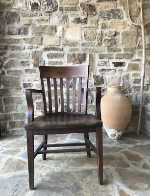 Antique SIKES Philadelphia Chair, Banker Chair