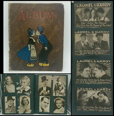Vintage Scrapbook Hollywood Movie Star Photos Laurel & Hardy Newspaper Clippings
