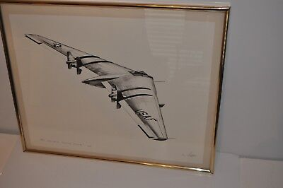 """Dan Witkoff Limited Edition Signed Print 33/100 """"Flying Wing""""  The YRB-49A"""
